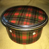 Tartan Ware Sewing Tread Box - 19th Century