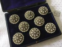 Stunning Set of Paste Buttons c.1900 (2 of 7)
