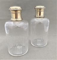 Stunning Pair of Parisian Silver Gilt Cologne Bottles