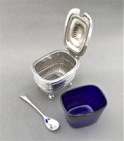 Handsome Edwardian Silver Mustard Pot & Spoon (3 of 5)