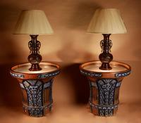 """Pair of Very Rare & Impressive Decorative Art Deco Large Pottery """"Gres"""" Jardinières Eliminated, Side Tables (8 of 11)"""