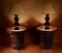 """Pair of Very Rare & Impressive Decorative Art Deco Large Pottery """"Gres"""" Jardinières Eliminated, Side Tables (7 of 11)"""