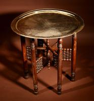 Very Decorative Moorish Folding Coffee Table c.1900-1920