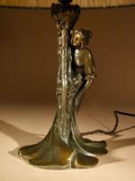 Original Art Nouveau Period Amusing Table Lamp, Continental Germany / Austria c.1900 (6 of 7)