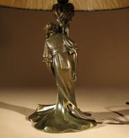 Original Art Nouveau Period Amusing Table Lamp, Continental Germany / Austria c.1900 (4 of 7)
