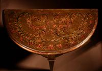 Early Dutch Hindeloopen 'Frisian' Demi Lune Table (12 of 12)