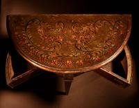 Early Dutch Hindeloopen 'Frisian' Demi Lune Table (11 of 12)