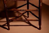 Very Decorative Elmwood Triangle Armchair C.1900 (4 of 6)