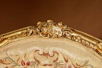 Louis XV Style Finely Carved Gildwood & Original Aubusson Tapestry Cabriolet Pair of Armchairs, 19th Century (18 of 18)