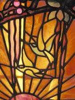 Tiffany Style Leaded Glass Parrot & Fox Door Window (6 of 6)