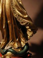 Beautiful Finely Carved and Original Gilded Madonna & Child (9 of 15)