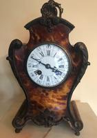 Faux Tortoiseshell French Mantel Clock
