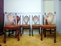 French Renaissance Revival Dining Chairs, 19th Century Gothic