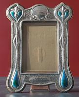 Arts & Crafts Silver & Enamel Photograph Frame by Deakin & Francis