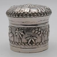 Antique Indian Silver Tea Caddy