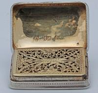 William IV Silver Vinaigrette by Nathaniel Mills (3 of 5)