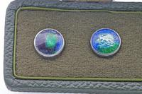 Extremely Rare Set of Liberty & Co Cymric Silver & Enamel Buttons (3 of 6)
