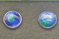 Extremely Rare Set of Liberty & Co Cymric Silver & Enamel Buttons (5 of 6)