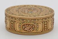 18th Century French Three-Colour Gold Oval Box (3 of 8)