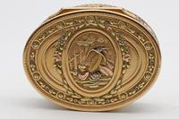 18th Century French Three-Colour Gold Oval Box (4 of 8)