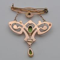 Rare Arts & Crafts Peridot Brooch by Liberty & Co (2 of 2)