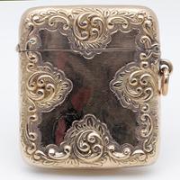 Victorian 9 Carat Gold Ornate Vesta Case Henry Matthews (2 of 3)