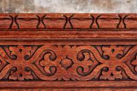 Unusual Large Antique Victorian Carved Oak Planter (7 of 8)
