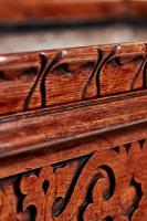 Unusual Large Antique Victorian Carved Oak Planter (2 of 8)