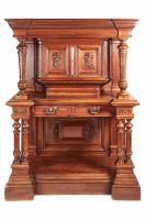 Magnificent Carved Walnut Court Cupboard