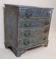 Mahogany Painted Chest of Drawers (3 of 4)