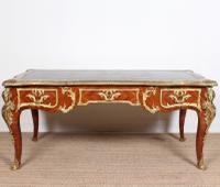 French Kingwood Gilt Mounted Bureau Plat Regence Desk