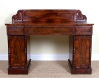 Regency Twin Pedestal Mahogany Sideboard 19th Century