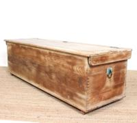 Large Rustic Elm Blanket Box Chest c.1920