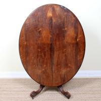 Rosewood Tilt Top Tripod Table 19th Century