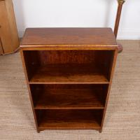 Petite Oak Open Bookcase c.1920 (3 of 11)