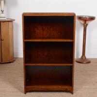 Petite Oak Open Bookcase c.1920 (4 of 11)