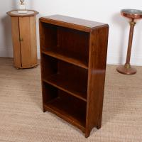 Petite Oak Open Bookcase c.1920 (5 of 11)
