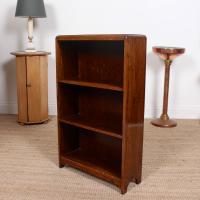 Petite Oak Open Bookcase c.1920 (10 of 11)
