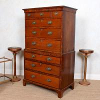 18th Century George III Oak Chest on Chest of Drawers Rosewood (6 of 12)