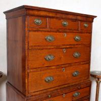 18th Century George III Oak Chest on Chest of Drawers Rosewood (10 of 12)