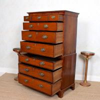 18th Century George III Oak Chest on Chest of Drawers Rosewood (7 of 12)