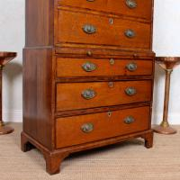 18th Century George III Oak Chest on Chest of Drawers Rosewood (11 of 12)