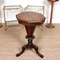 Chess Board Trumpet Work Table 19th Century (3 of 10)