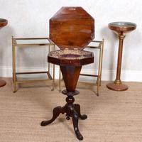 Chess Board Trumpet Work Table 19th Century (8 of 10)