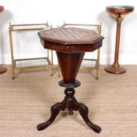 Chess Board Trumpet Work Table 19th Century (4 of 10)