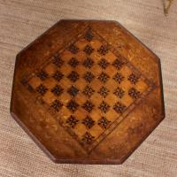 Chess Board Trumpet Work Table 19th Century (2 of 10)