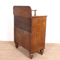 Linen Chest of Drawers Painted Simulated Oak Pine 19th Century (11 of 12)