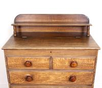 Linen Chest of Drawers Painted Simulated Oak Pine 19th Century (5 of 12)