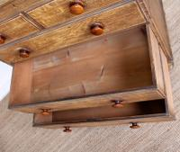 Linen Chest of Drawers Painted Simulated Oak Pine 19th Century (9 of 12)