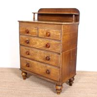 Linen Chest of Drawers Painted Simulated Oak Pine 19th Century (12 of 12)